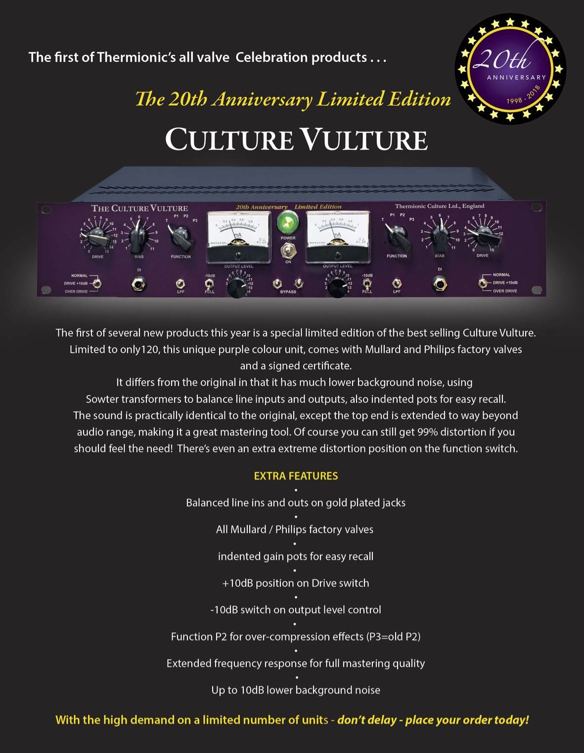 20th Anniversary Culture Vulture
